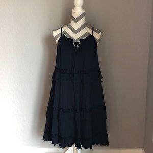 Anthro Moon River Ruffled Dress